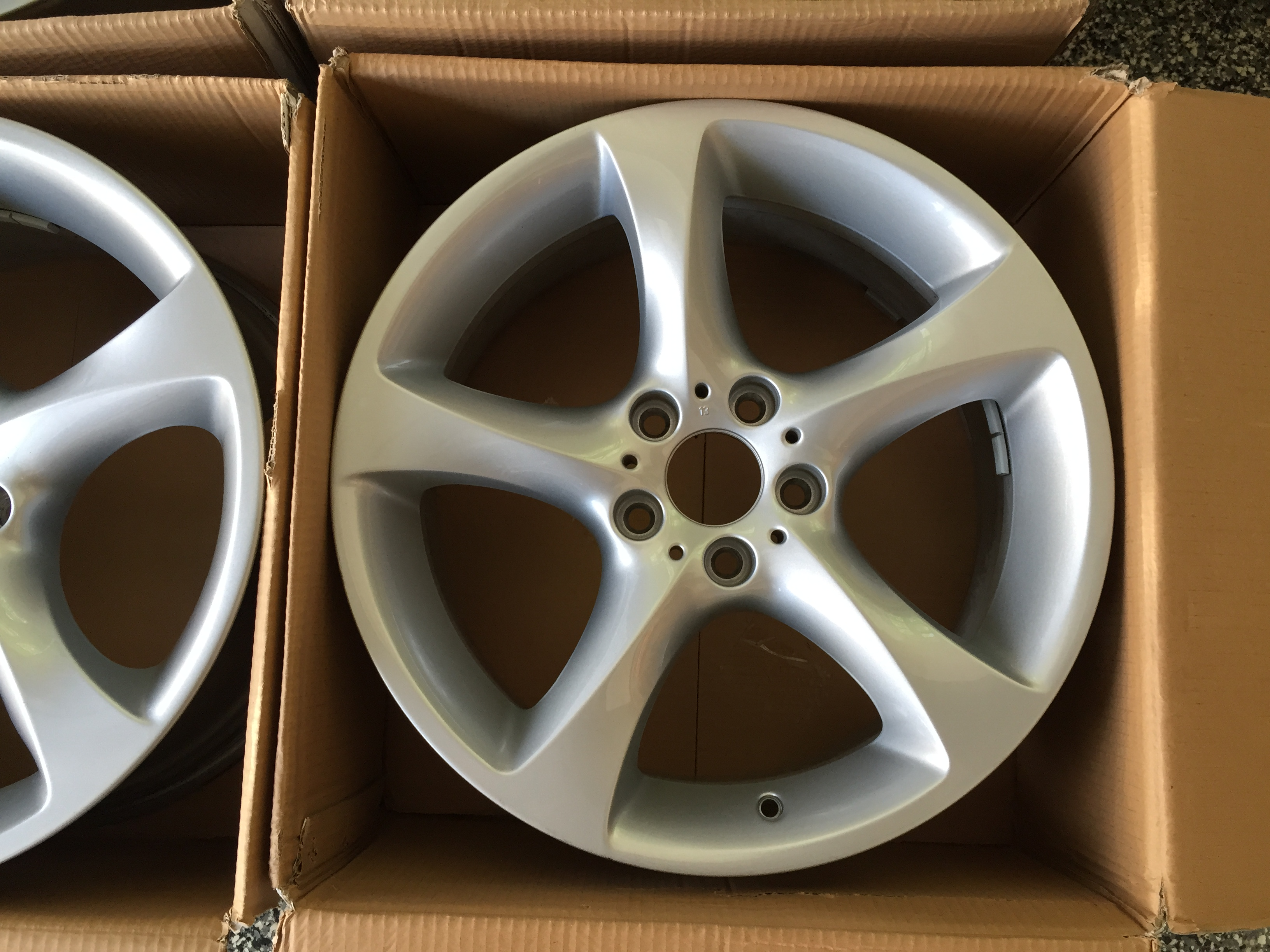 Bmw 2013 335i 19 Star Spoke Alloy Wheels Silver